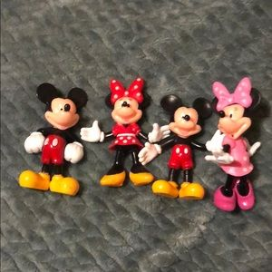 Other - Set of 4 Mickey Mouse and Minnie figures
